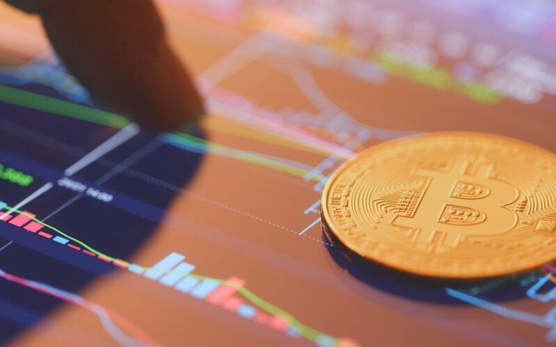 Bitcoin on stock market data screen